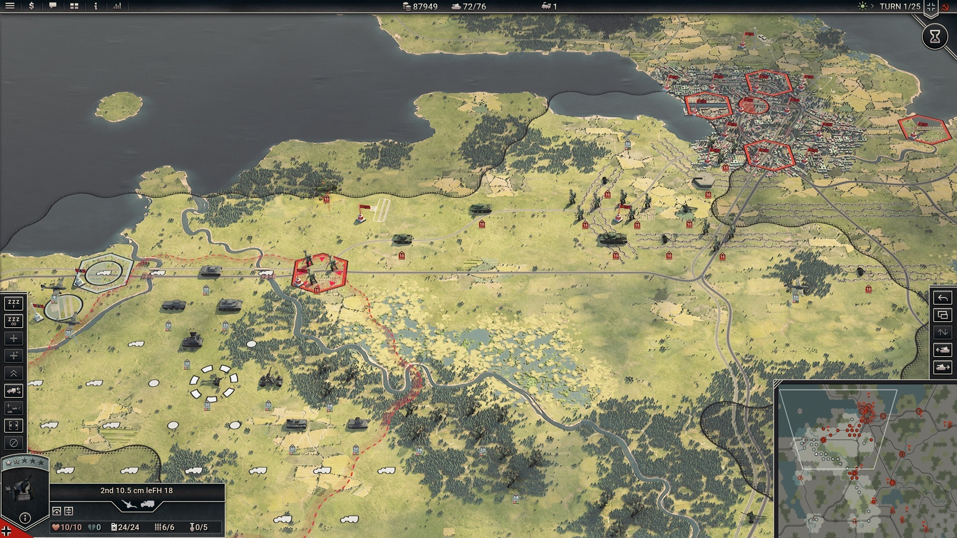 PanzerCorps 2 Beta version screenshot